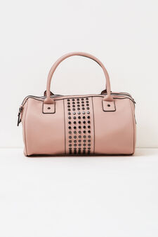 Handbag with studs, Pink, hi-res