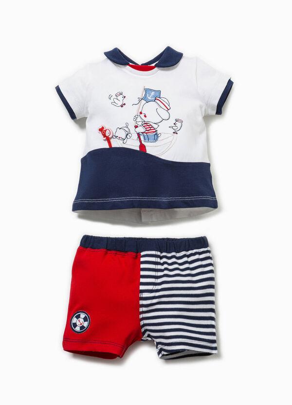 100% Biocotton T-shirt and shorts set | OVS