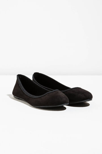 Ballerina flats in suede fabric