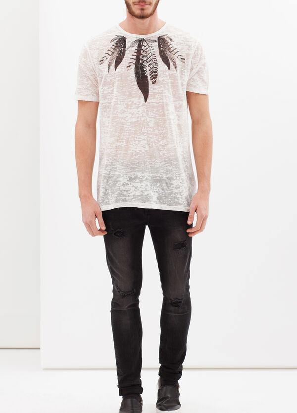 T-shirt stampata misto cotone     OVS