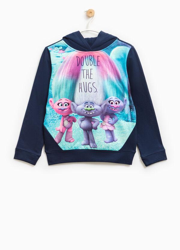 Sweatshirt in stretch cotton with Trolls print | OVS