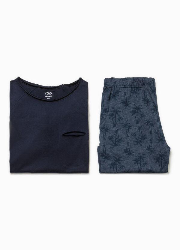 Pijama de camiseta y bermudas con estampado | OVS