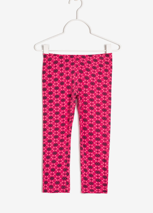 Leggings with buttons and a print | OVS