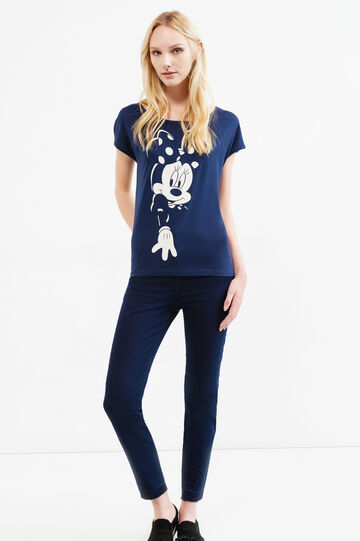 100% cotton T-shirt with Minnie Mouse print, Dark Blue, hi-res