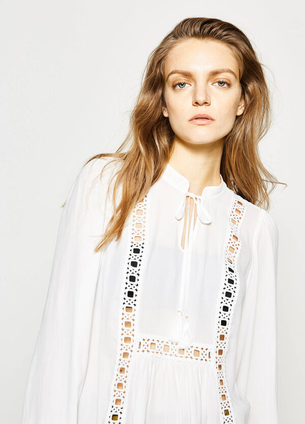 Openwork blouse with tassels | OVS