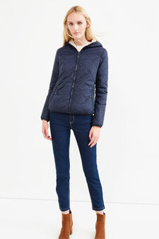 Jacket with faux fur lining, Navy Blue, hi-res