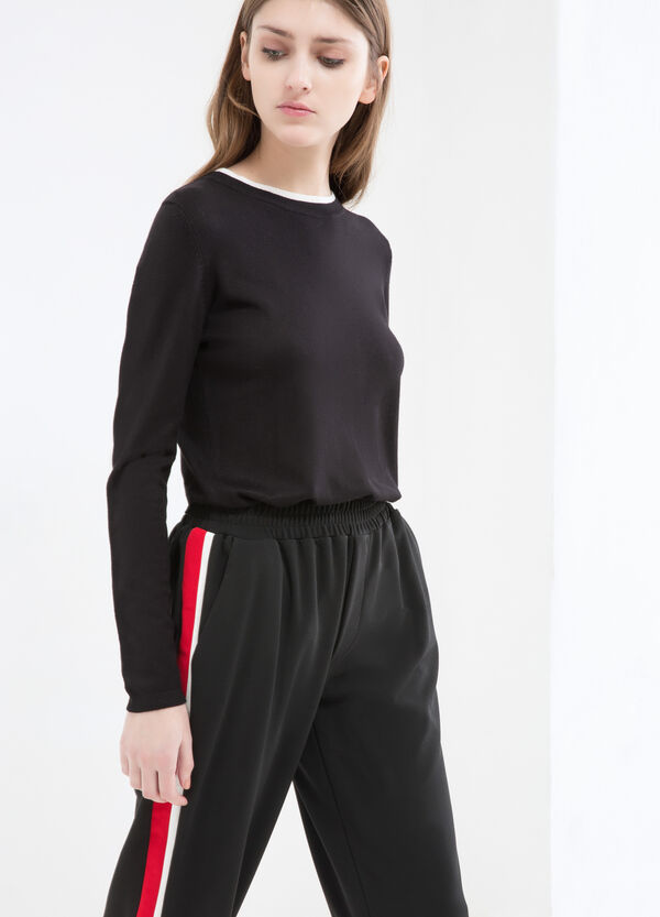Stretch trousers with inserts | OVS