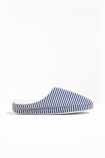 Striped canvas slippers