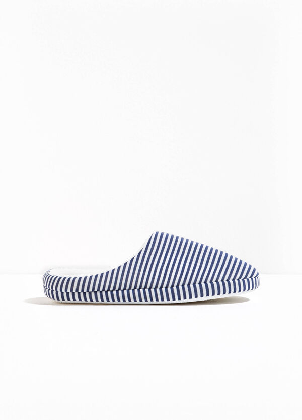 Striped canvas slippers | OVS