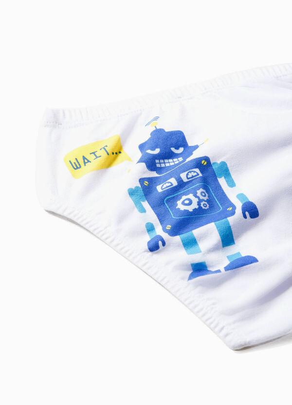 Slip in cotone stretch stampa robot | OVS