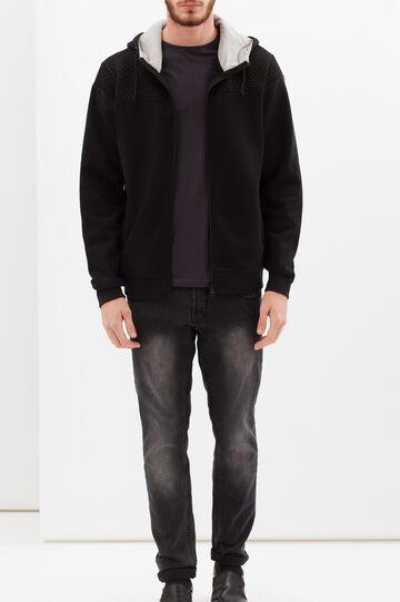 Cotton blend hoodie, Black, hi-res