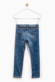 Used effect super skinny fit jeans, Denim, hi-res