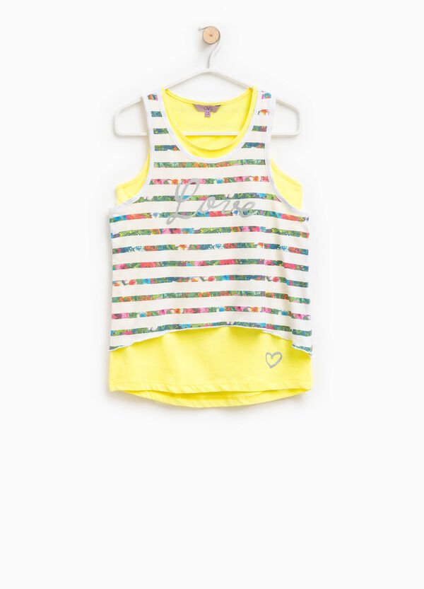 Two-pack cotton tops patterned and solid colour | OVS