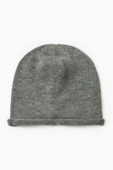 Beanie with turn-up, Grey Marl, hi-res