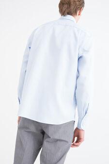 Regular-fit shirt with adjustable cuffs, Light Blue, hi-res