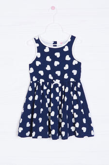Sleeveless patterned dress, Blue, hi-res