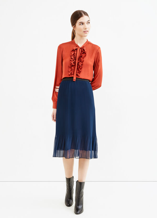 Pleated and lined tulle skirt | OVS
