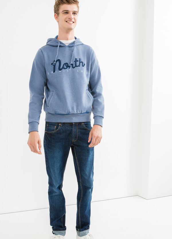 Cotton sweatshirt with G&H lettering embroidery | OVS