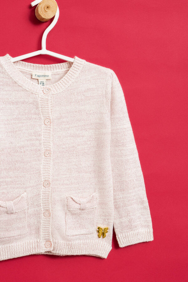 Cardigan with bow insert | OVS