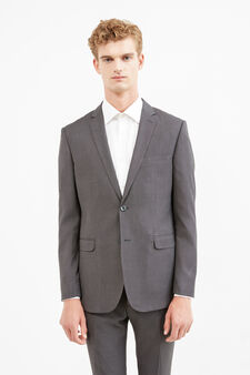 Elegant regular-fit viscose suit, Grey, hi-res
