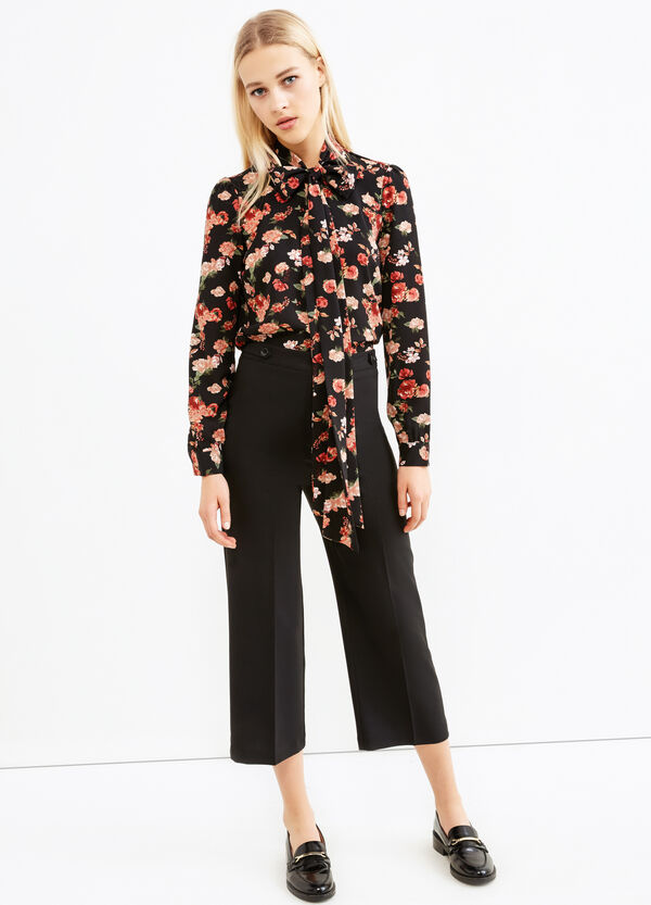 Cropped trousers with crease. | OVS