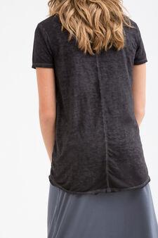 T-shirt con stampa Teen, Nero, hi-res