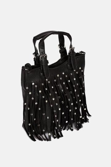 Mini shopper bag, Black, hi-res
