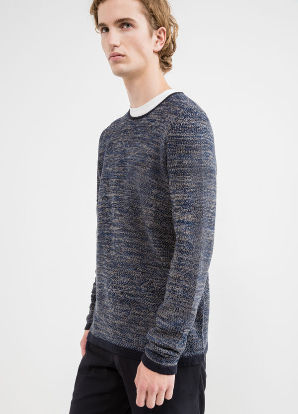 Cotton blend knitted pullover | OVS