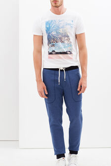 Joggers with pockets, Soft Blue, hi-res