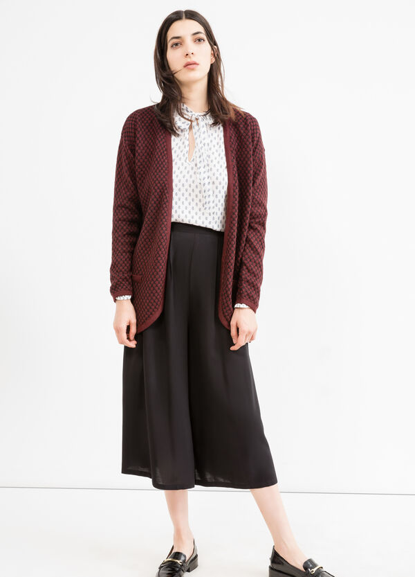 Patterned buttonless cardigan. | OVS