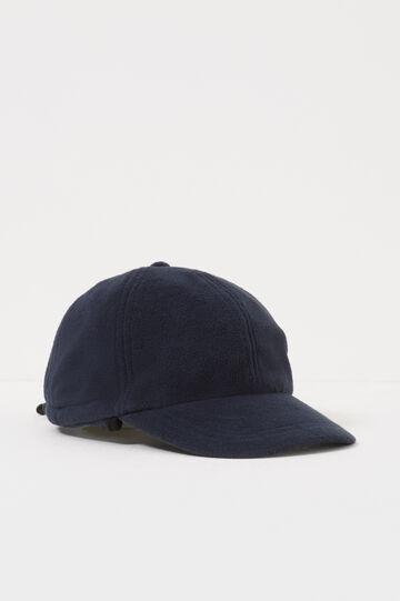 Cappello da baseball in pile, Blu navy, hi-res