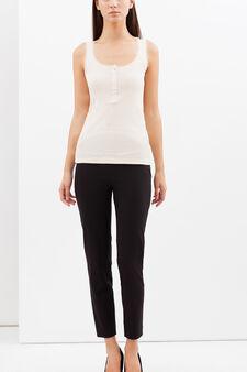 Vest with lace trim, Natural, hi-res