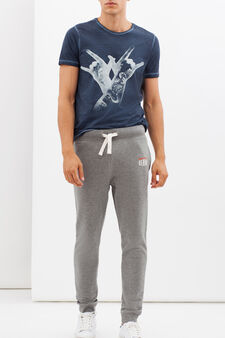 G&H regular fit joggers, Concrete Grey, hi-res