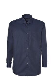 Regular-fit shirt in 100% cotton dobby, Dark Blue, hi-res