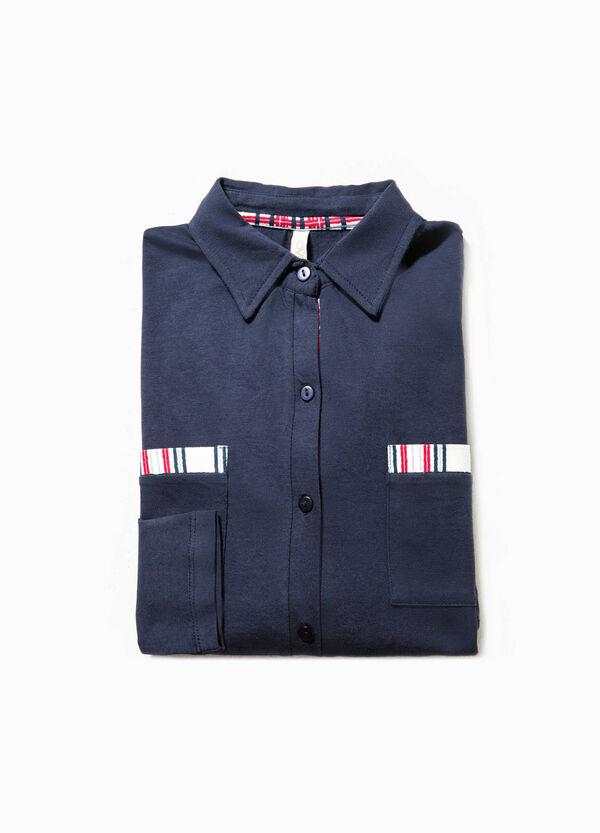 Pyjama top with pleated hem | OVS