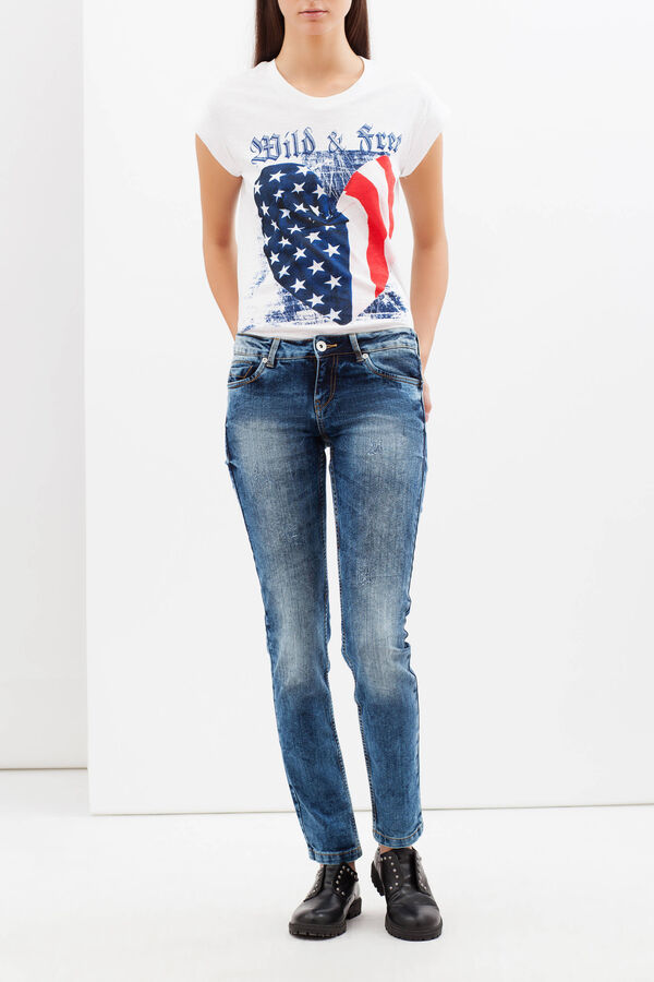 Skinny fit, worn-effect jeans | OVS