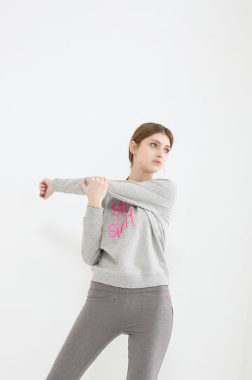 Stretch cotton printed sweatshirt