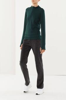 T-shirt sportiva maniche lunghe, Verde, hi-res