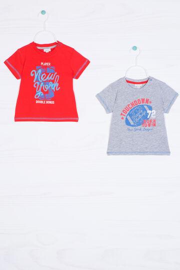 Set due t-shirt puro cotone stampa