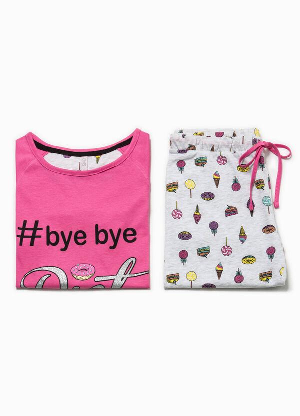 Patterned pyjamas with glitter print | OVS