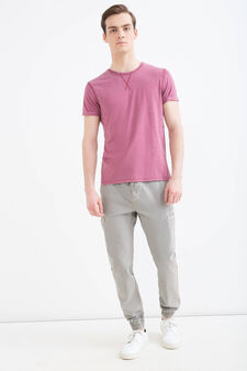 100% cotton trousers with six pockets, Grey, hi-res