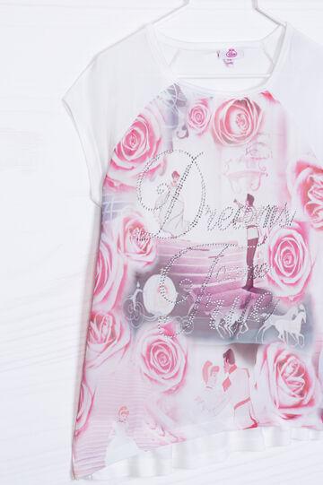 T-shirt pura viscosa stampa Disney, Bianco, hi-res