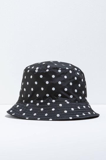 Polka dot patterned fishing hat, White/Black, hi-res
