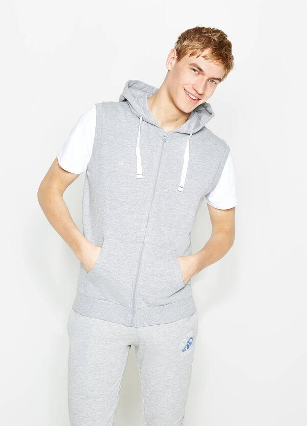 Sleeveless sweatshirt with ribbing | OVS