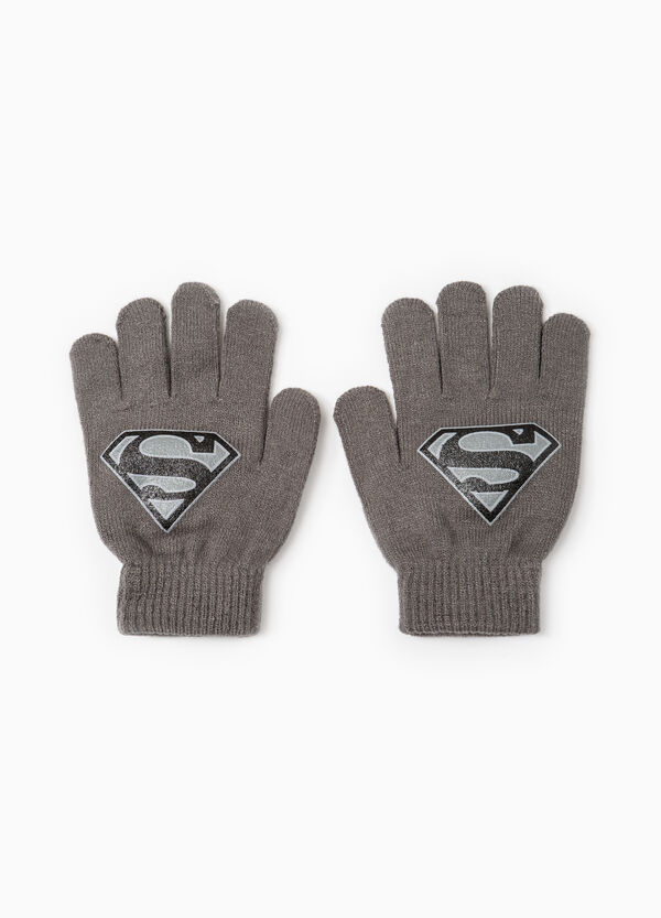 Gloves with Superman print | OVS