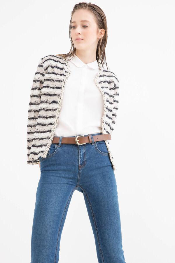 Striped jacket in stretch viscose blend | OVS