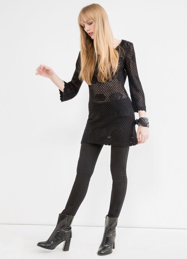 Solid colour short knit dress. | OVS