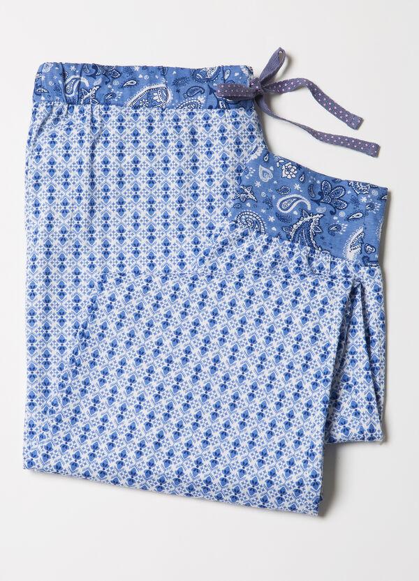 Patterned cotton pyjama trousers | OVS