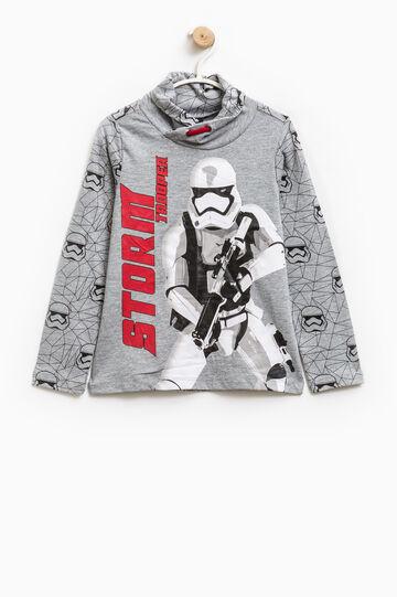 T-shirt with Star Wars print, Grey Marl, hi-res