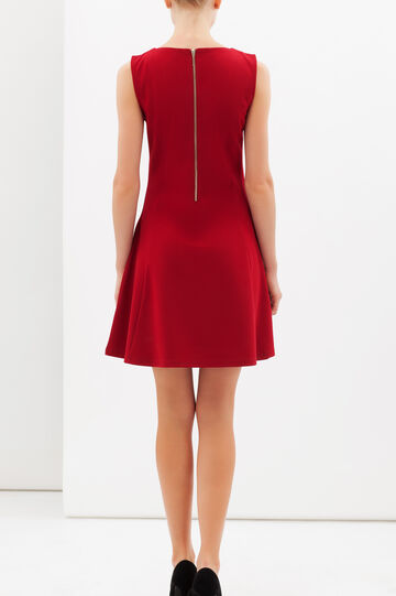 Stretch skater dress, Claret Red, hi-res
